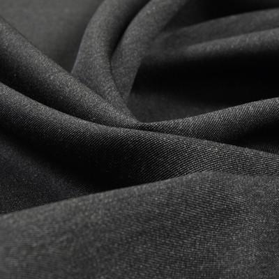 Костюмная шерстяная ткань средне-серая меланжевая