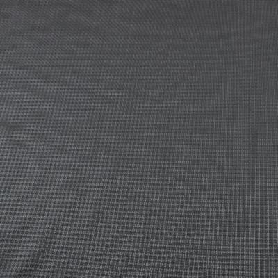 Костюмная шерстяная ткань в мелкую серую клетку