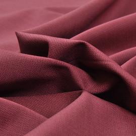 Костюмная шерстяная ткань брусничного цвета