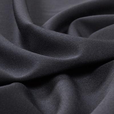 Костюмная шерстяная темно-синяя ткань