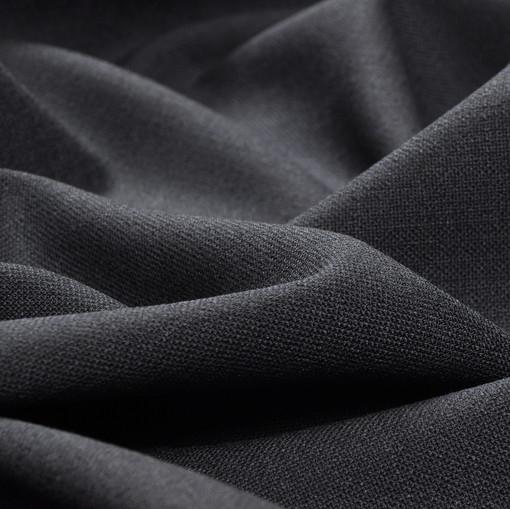 Костюмная серо-синяя шерстяная ткань