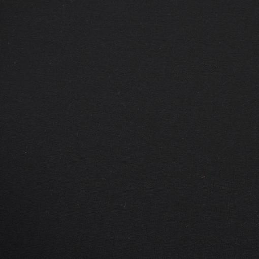 Костюмно-плательная шерстяная черная ткань креповая