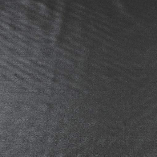 Костюмная ткань черная в редкую полоску, с блеском