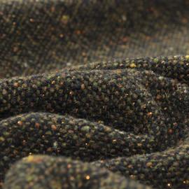 Плотный коричневый твид с пестрыми крапинами