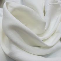 Лен плательный стрейч молочно-белого цвета