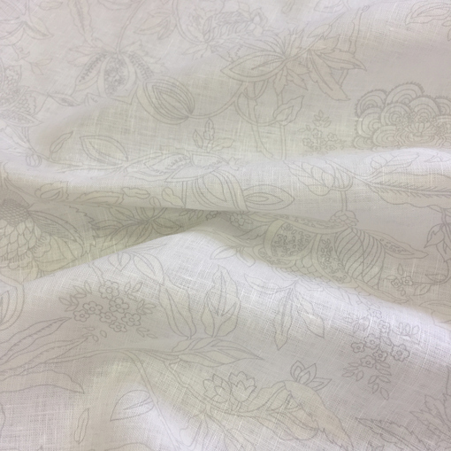 Лен молочного цвета Alberta Ferretti с нежным серым узором