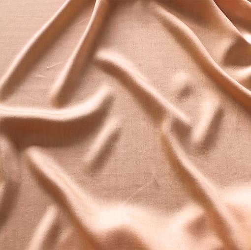 Лен с вискозой мандариново-разбеленного цвета