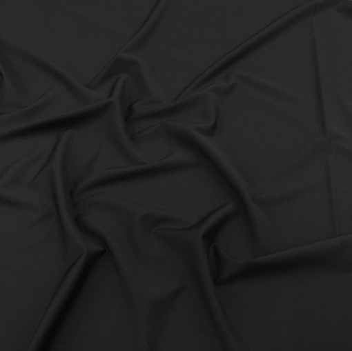 Лен с вискозой стрейч костюмный черного цвета