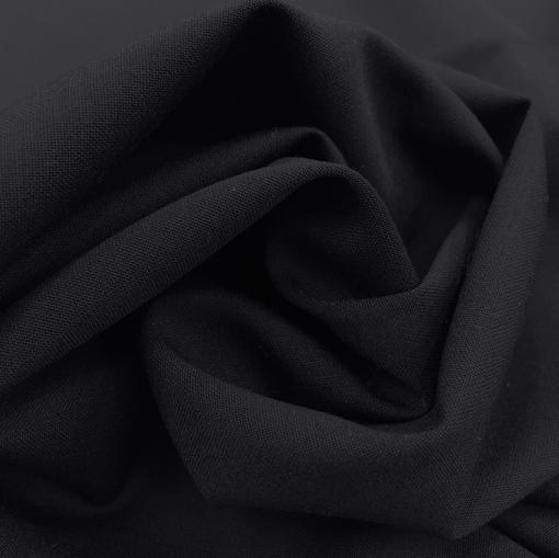 Лен с вискозой стрейч костюмный темно-синего цвета