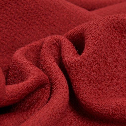 Жаккардовое джерси плательное темно-красного цвета