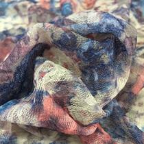 Кружево стрейч на сетке Blumarine абстрактная поляна