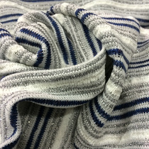 Трикотаж Missoni серо-синяя полоска с серебристым люрексом