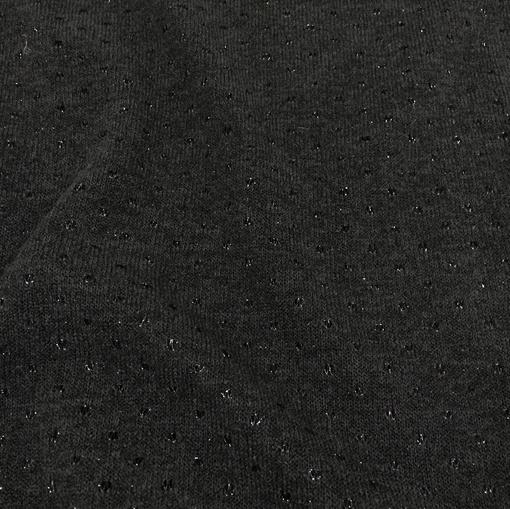Трикотаж смесовый деворе черного цвета с люрексом