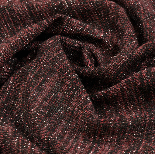 Трикотаж для вечернего платья медно-коричневого цвета с люрексом