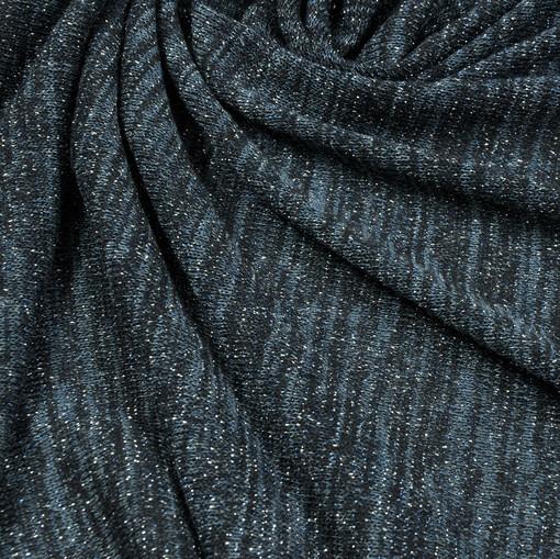 Синевато-серый вечерний трикотаж с блеском