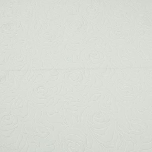 Объемный трикотаж Scuba белого цвета с розами