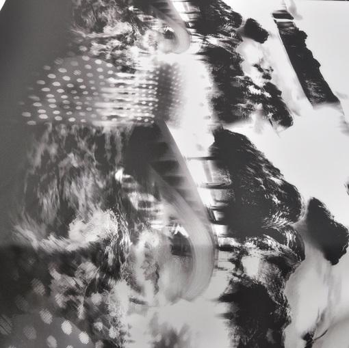 Трикотаж Scuba с абстрактным принтом пейзажа