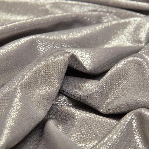 Нарядный вискозный тонкий трикотаж серебристо-бронзового цвета