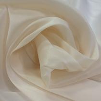 Органза шелковая стрейч светло-молочного цвета
