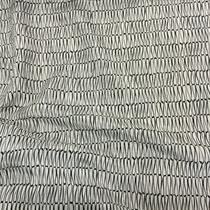 Шелк чесуча тонкий принт Prada черные полоски на белом