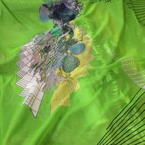 Муслин McQueen на салатном фоне принт купон