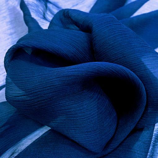 Шёлк креш светло синий