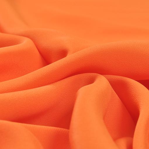 Крепдешин смесовый морковного цвета