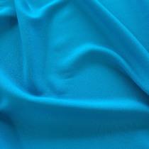Креп кади вискозный плательный голубого цвета