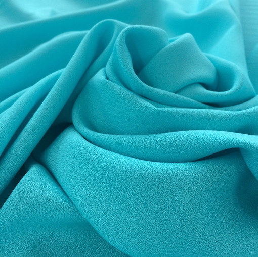 Креп кади вискозный плательный нежно-бирюзового цвета