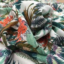 Вискоза плательная принт Max Mara цветы и папоротник