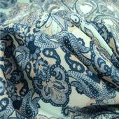 Вискоза плательная принт ETRO голубой орнамент