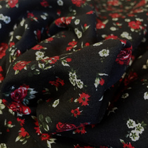 Вискоза плательная с шерстью принт Prada мелкие цветы