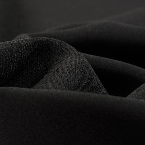 Кади вискозное стрейч черного цвета