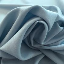 Вискозный креп-кади Valentino струящийся пыльно-голубого цвета