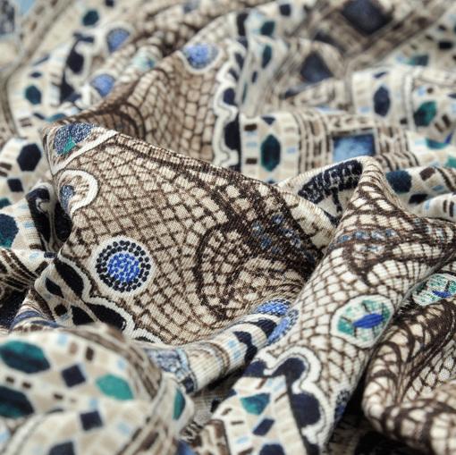 Вискозный трикотаж в стиле мозаики D&G