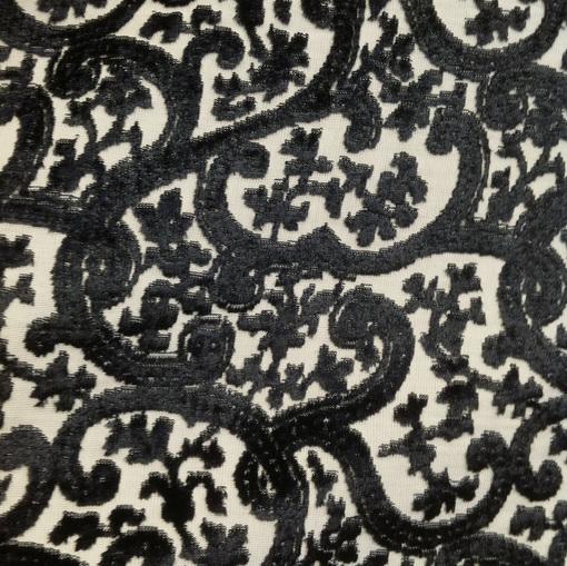 Вискозный нарядный бежевый трикотаж с велюровым арнаментом