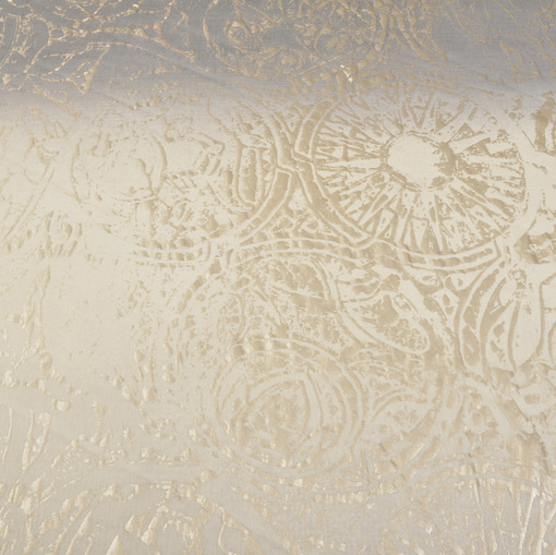 Вискозный нарядный трикотаж деграде кремового цвета с напылением
