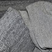 Трикотаж вискозный серый  с люрексом