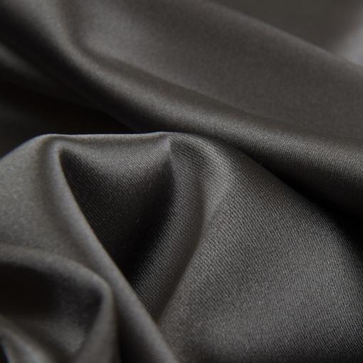 Вискозный атлас стрейч серого цвета