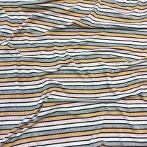 Трикотаж лапша нарядный полосатый с люрексом