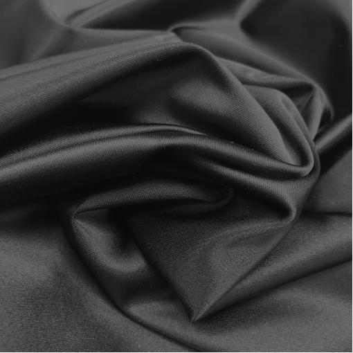 Атлас вискозный стрейч черного цвета