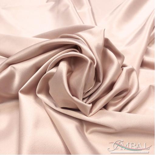 Атлас стрейч ванильно-розового цвета
