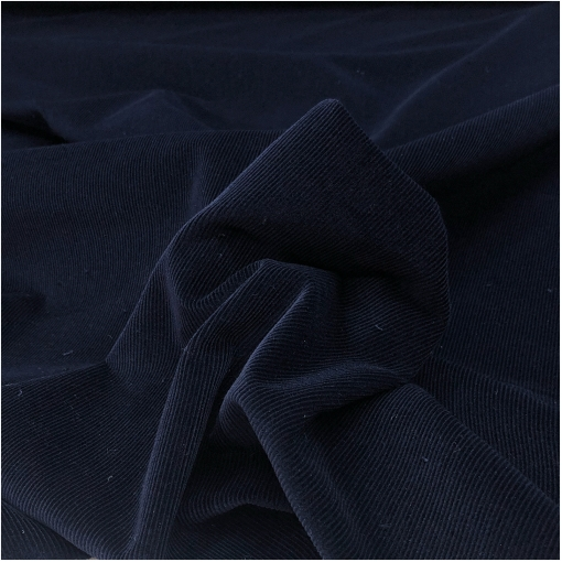Микровельвет хлопковый стрейч тёмно-синего цвета