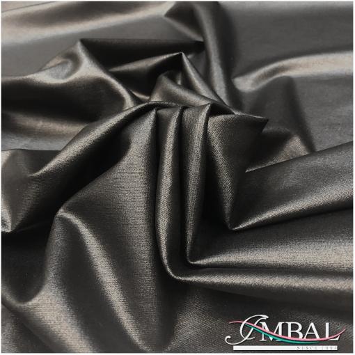 Джерси стрейч вискозное плотное черного цвета с напылением под кожу