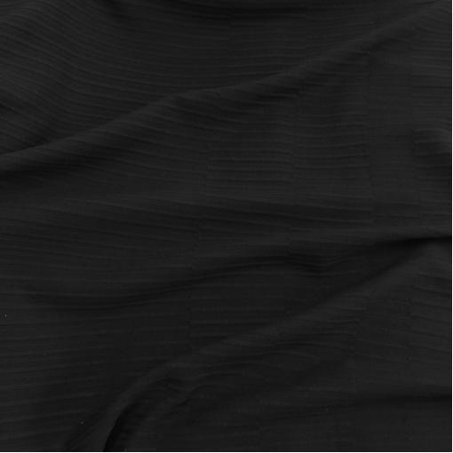 Джерси хлопковое с шерстью стрейч Hermes черного цвета с рисунком