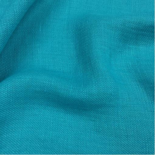 Хлопок костюмный рогожка бирюзово-голубого цвета