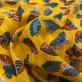 Хлопок нарядный жаккардовый х/б желтого цвета с листьями и нежным люрексом