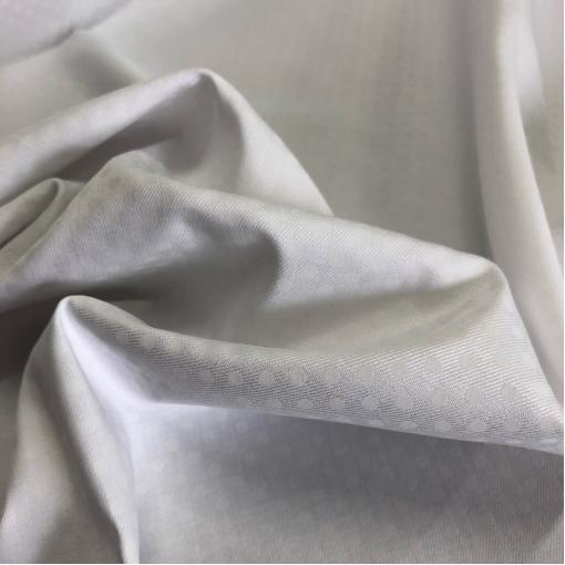 Хлопок плотный мягкий стрейч белого цвета принт горошек