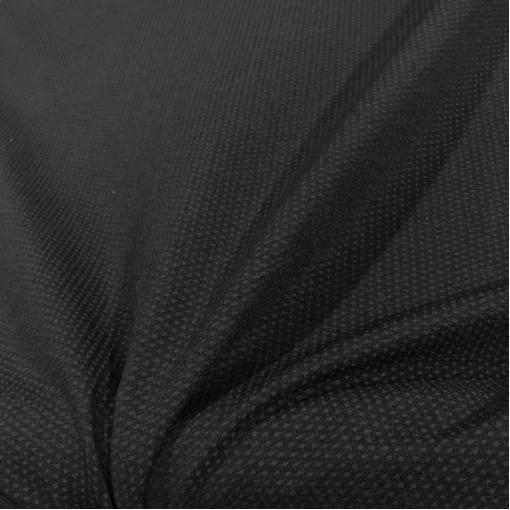 Жаккард фактурный вискозный стрейч ромбики на черном фоне