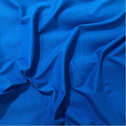 Жаккард фактурный вискозный стрейч треугольнички на ярко-синем фоне